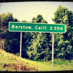 Barstow road sign - image courtesy James McCallum via Pinterest