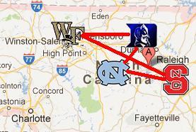 Big Four map - image courtesy accbasketballrx
